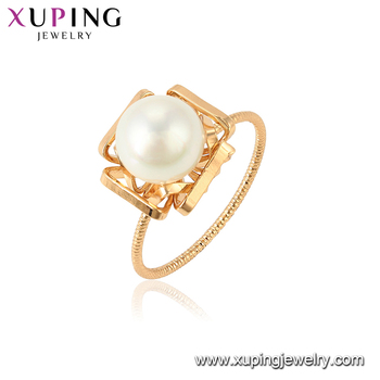 15437 xuping wholesale in China factory fashion latest imitation pearl ring design for women