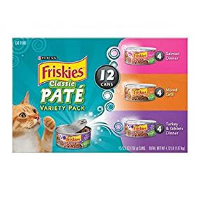Friskies Purina Classic Pate Cat Food Variety Pack Cans, 4.12 lb