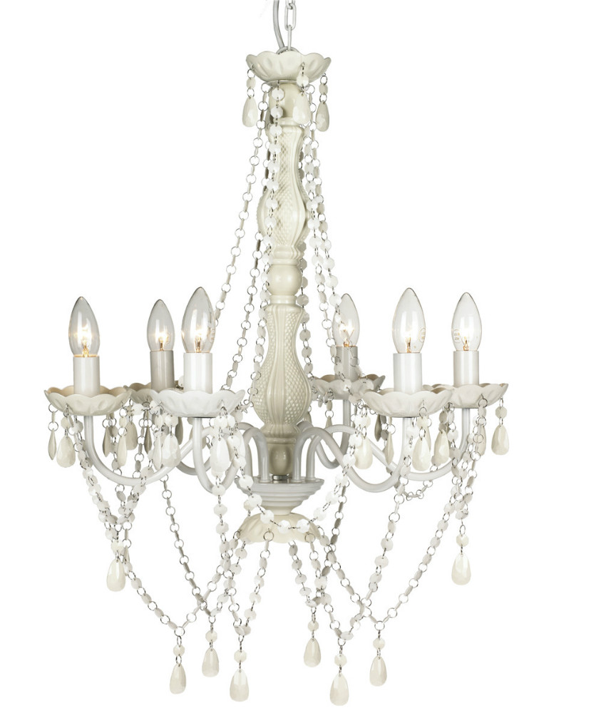 acrylic crystal large arm new color white gypsy watch chandelier