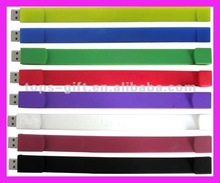 USB 4GB silicone bracelets with original branded chips
