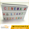 Cinema Sign Wedding Party Decoration Cinematic A4 led Lightbox with Personalisable Letter