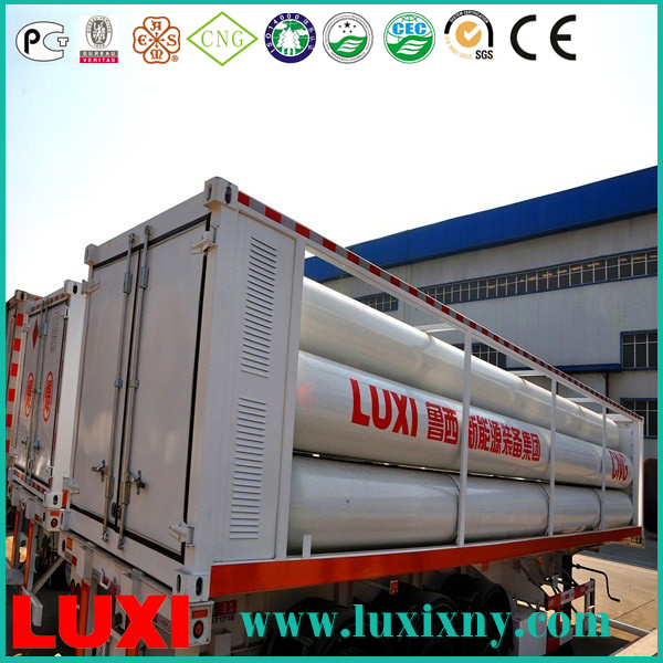 chia made cng container 25Mpa cng tube trailer gas fuel tanks , cng compressor for filling station