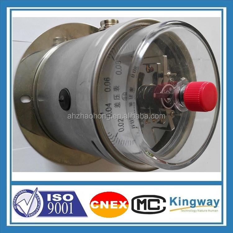 4 '' 6'' glycerine or silicone oil filled electric contact differential stainless steel pressure gauge