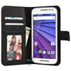 for motorola moto x3 magnet magnetic leather case cover with card holder