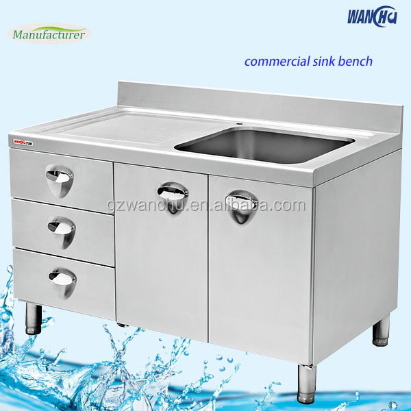 Customized kitchen Stainless Steel Cabinet Portable Kitchen Sink Table/Stainless Steel Sink Stand  sc 1 st  Alibaba & Customized Kitchen Stainless Steel Cabinet Portable Kitchen Sink ...