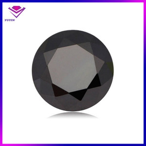 4mm round charming cubic zircon black gemstone names from China