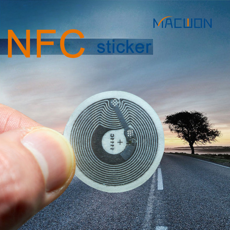 Cheap Price PVC 3M Sticker Waterproof Pritable small RFID NFC Paper tag sticker with Ntag 213 215 216 chip