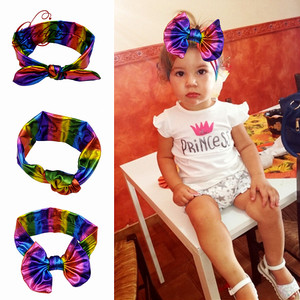 Fashion Rainbow Hair Bows Rabbit Ear Headband
