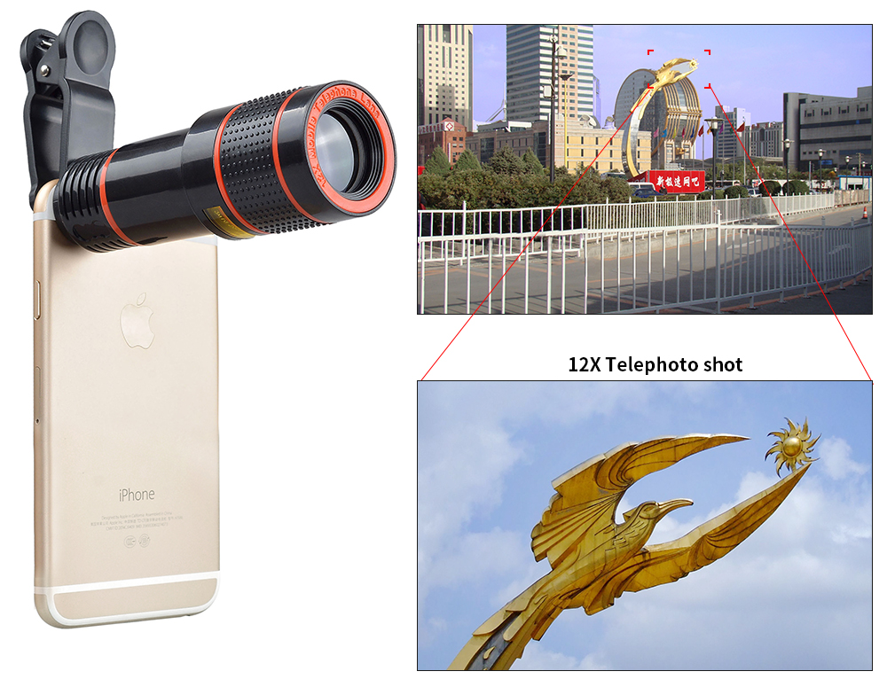 In mobile phone compatible brand and telescope lens telephoto