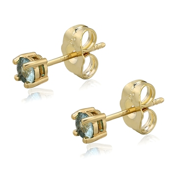 Earring-112 Xuping 14k gold plated 4mm artificial diamond stud earrings for women