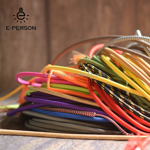 2*0.75 3*0.75 Copper Cloth Covered Wire Vintage Style Edison Light Lamp Cord Grip Twisted Fabric Lighting Flex Electric Cable
