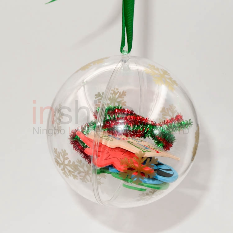 Christmas ps ball container snowflake printing ps ball