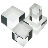 Solid Clear Acrylic Display Blocks Acrylic Solid Cube Display Shop Window Till Retail Collectors