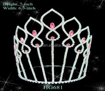 Miss Tiara Cheap Princess Crown Ring Bridal Wedding Tiaras Crowns With Hair Stick Childrens And