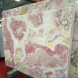 Newstar Pink Onyx Slab With 1.6cm Natural Stone Export From China