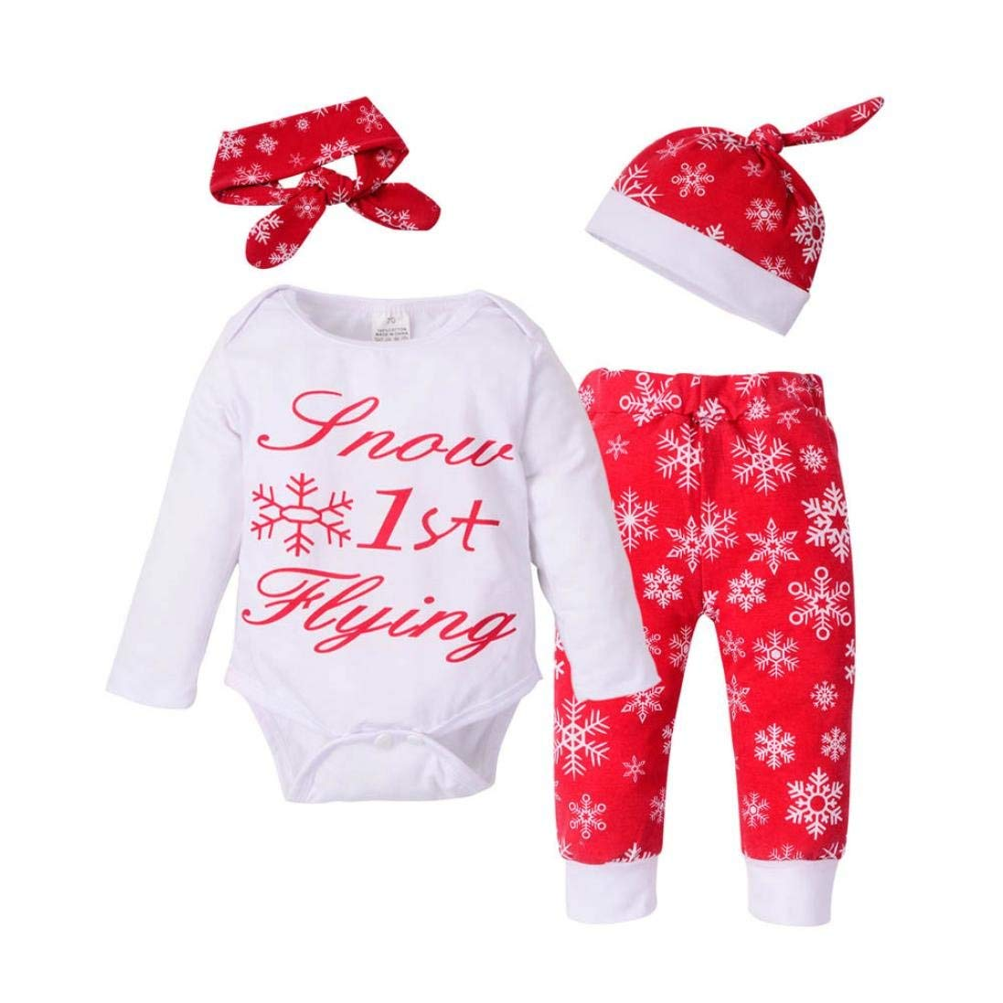 d4579717f Get Quotations · Baby Outfits,oldeagle Newborn Baby Girls Boys Christmas Outfits  Clothes Romper+Pants+Hat