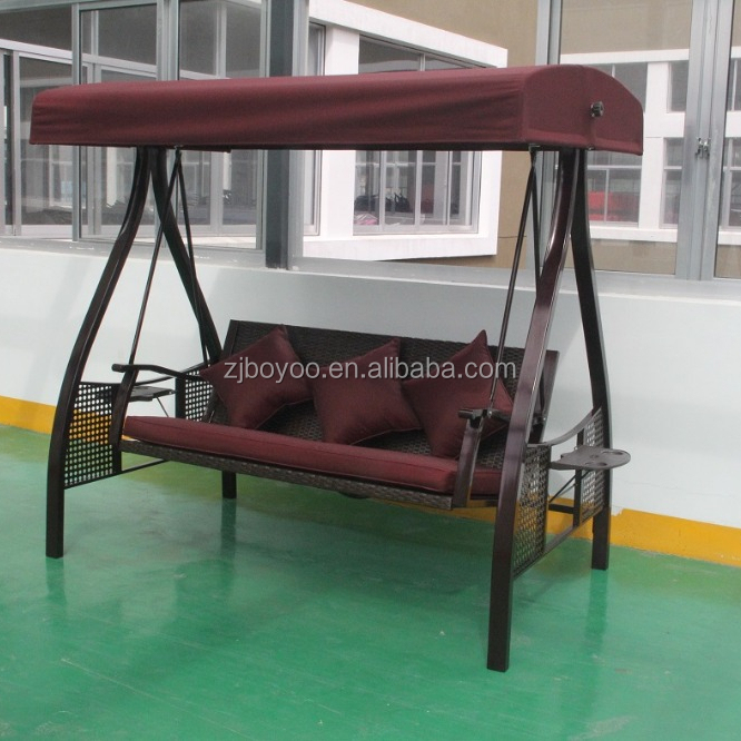 3 Seater Swing Canopy Outdoor Bench Swing Yard Bench Swing set