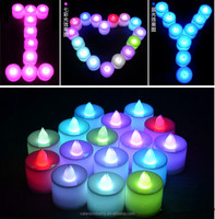 Flameles Colorful Electronic LED Artificial Candle Light for Saint Valentine's Day/Birthday/Party/Wedding/making a proposal