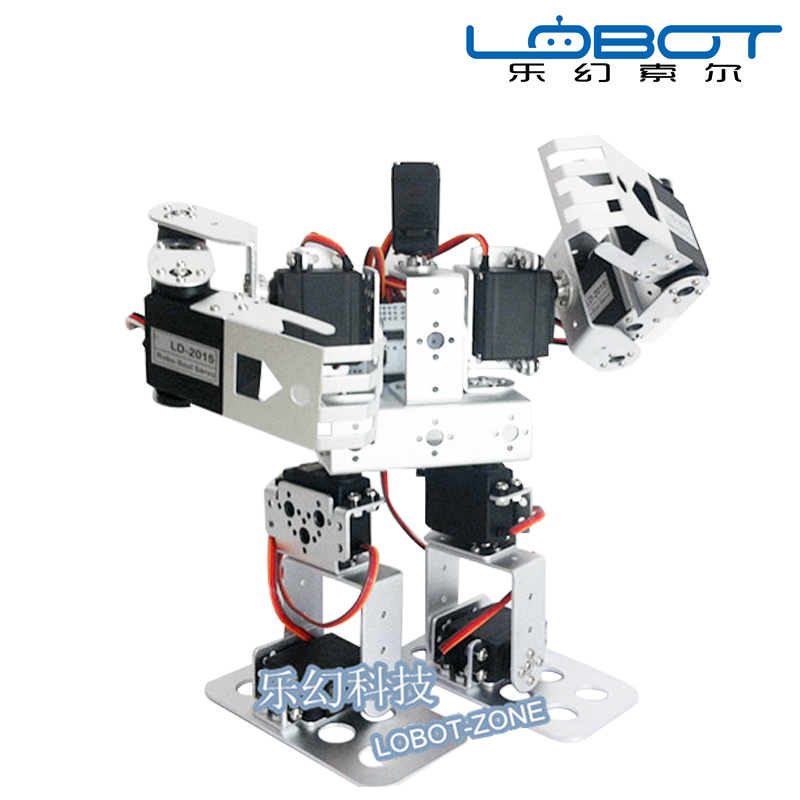 Lewansoud 11DOF Biped Robot With 11 Servo And Full Bracket Accessories, High Quality Stem Educational Robot