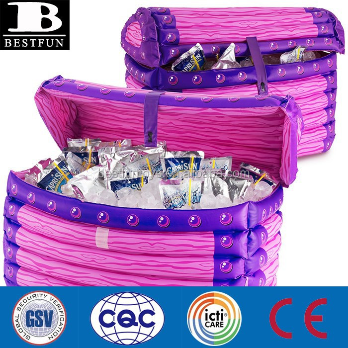 Customized Inflatable Ice Cooler Box Plastic Can Cooler Box ...