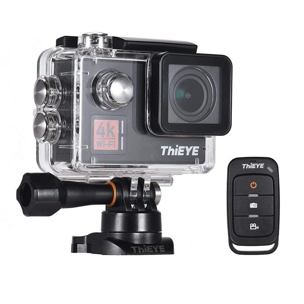 "ETbotu Waterproof Sport Video Camera ThiEYE T5Edge 4K Action Camera Wifi 14MP Ultra-HD 2"" IPS Screen 170 Wide Angle Camera"