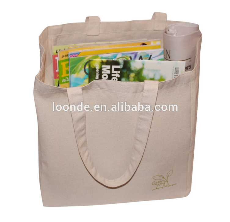 Reusable sustainable cheap blank cotton canvas tote bag