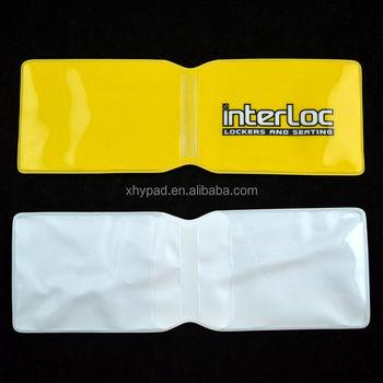 Custom clear pocket plastic business card holder buy pocket custom clear pocket plastic business card holder colourmoves
