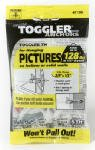 "TOGGLER TH Picture Hook Anchor with Screws, Made in US, 3/8"" to 1/2"" Grip Range, For #6 to #14 Fastener Size (Pack of 5)"