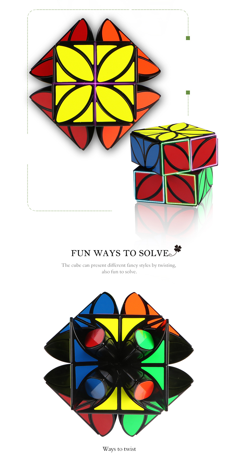 68mm color speed puzzle clover plus brain games cube kid for playful