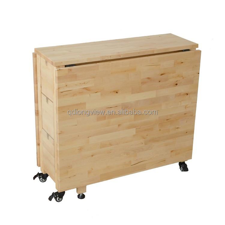 el ltimo dise o libro de madera maciza mesa plegable con