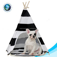 Fashion folded tent pet bed house for dog luxury wholesale wooden pet cat bed washable cute soft dog tent bed