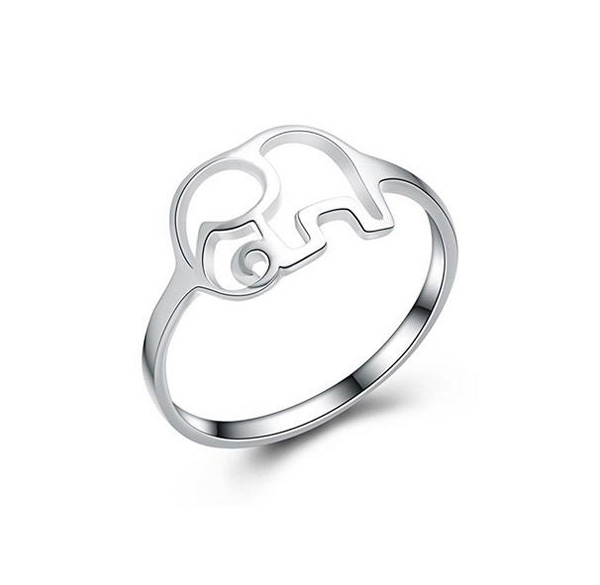 Cute 925 sterlign silver Thailand elephant animal ring wholesale Jewellery