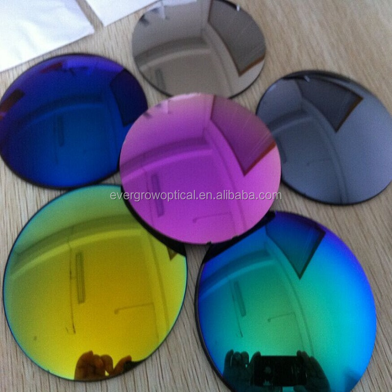 Atmospheric cr-39 sunglasses lenses with mirror coating