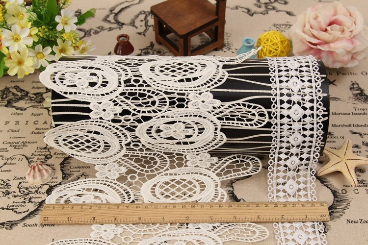 wholesale cheap Jute ribbon lace trimming, decorative tatting border bridal embroidery lace trim