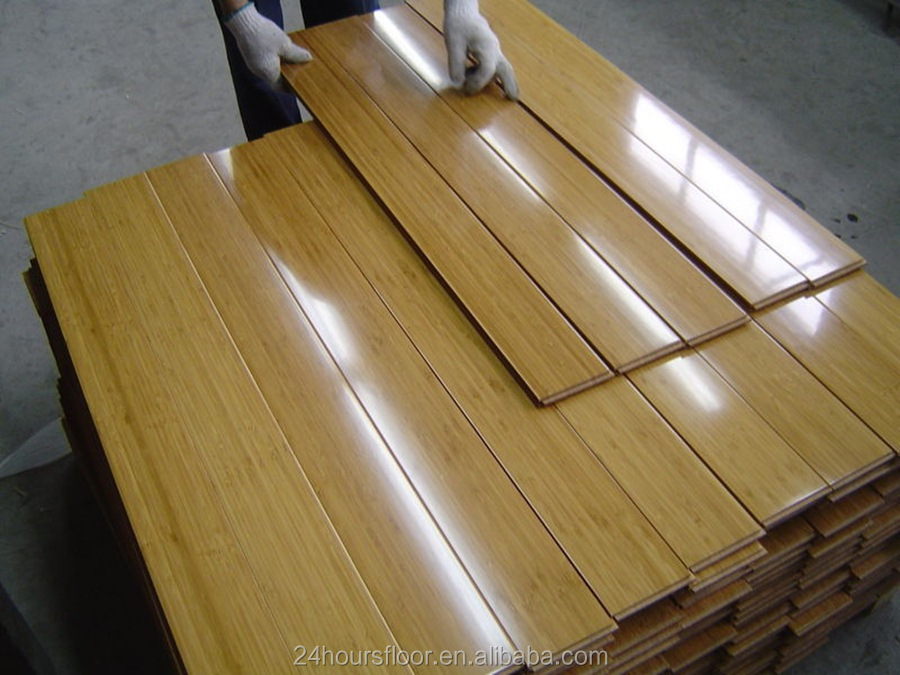 Carbonized /Natural Strand Woven Bamboo Flooring