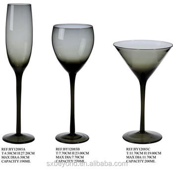 Colored Stem Wine Gles Home Design Ideas