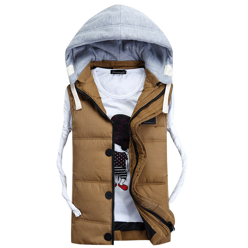 Mens Vest 2015 Fashion Mens Coat Mens Warm Waistcoat Mens vest Men's Outwear Vest Down and Cotton Vest Jacket For Man #S905