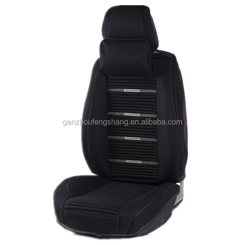 Hot Koop groothandel aangepaste luxe comfortabele linnen doek universele auto seat cover