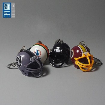 mini american football helmet keychain, custom made football hemet keychain, pvc helmet keychain for promotion