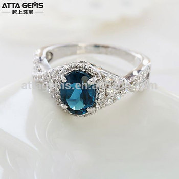 4bbfb9b86d Gemstone 925 Silver Ring With Blue Stone Blue Sapphire Rings - Buy ...