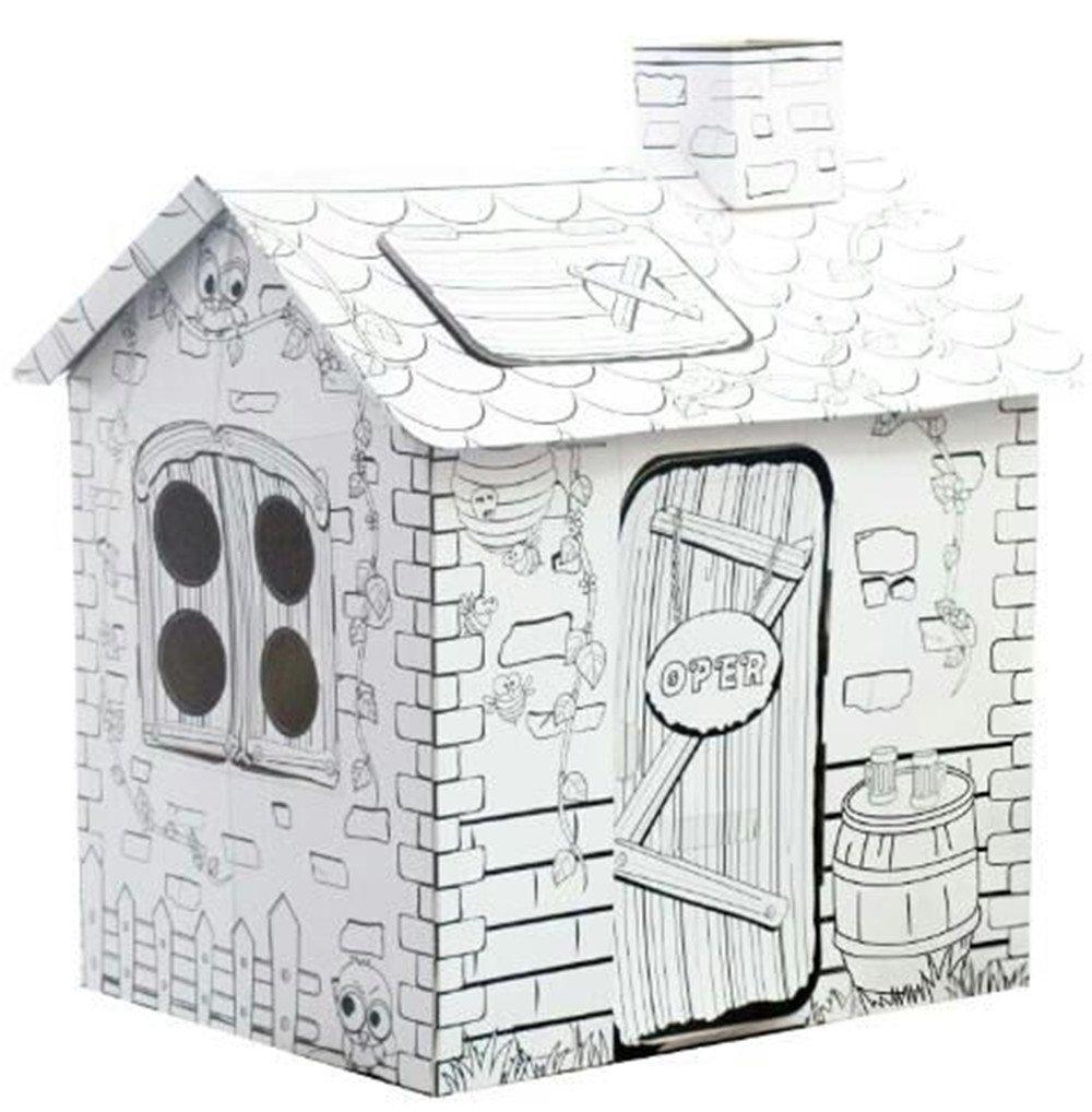 Buy My Rattan Playhouse, 34.25 Inch Tall Corrugated Cardboard ...