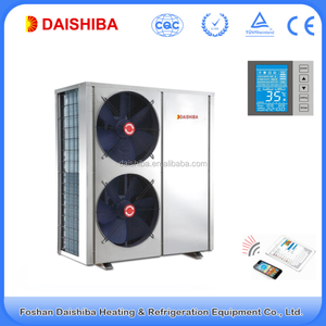 Air source EVI low temperature water heat pump for room heating and cooling17kw WIFI control