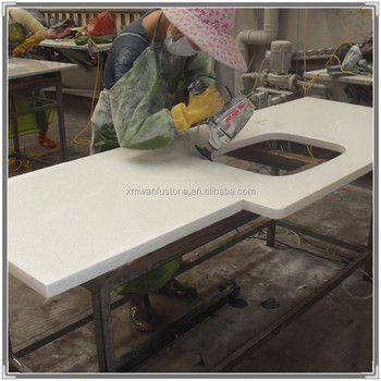 China Cheap Artificial Quartz Stone Prefab Countertop Bathroom Countertops With Built In Cheap Bathroom Countertops