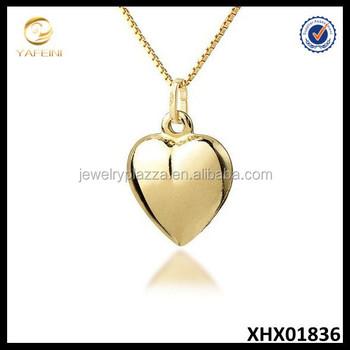 Gold heart necklaceheart shaped pendant necklace 18k gold vermeil gold heart necklace heart shaped pendant necklace 18k gold vermeil valentines jewelry aloadofball Images