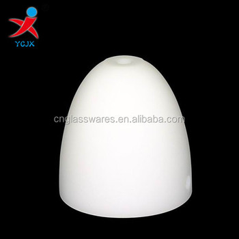 Acid Opal White Bell Shape Gl Lamp Shade With 22mm Hole On The Top