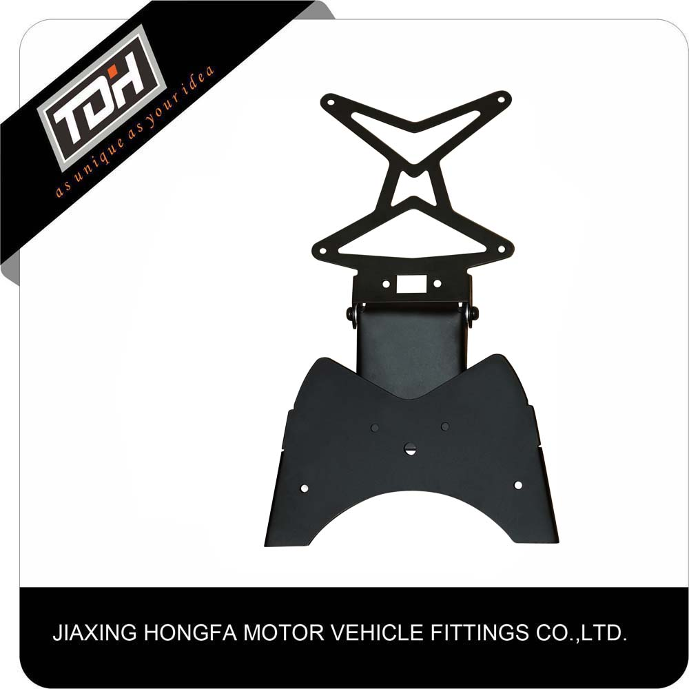 vehicle spare parts black moto number plate holder aluminum for scooter