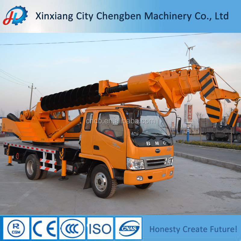 Exporting to Thailand BMC/T-king/Dongfeng chassis auger Crane truck for sale