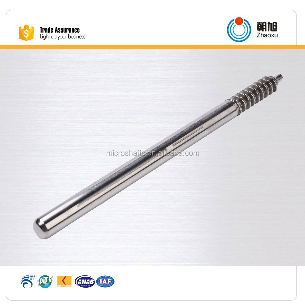 Chinese supplier CNC machining Worm shaft design Used in Home applicance