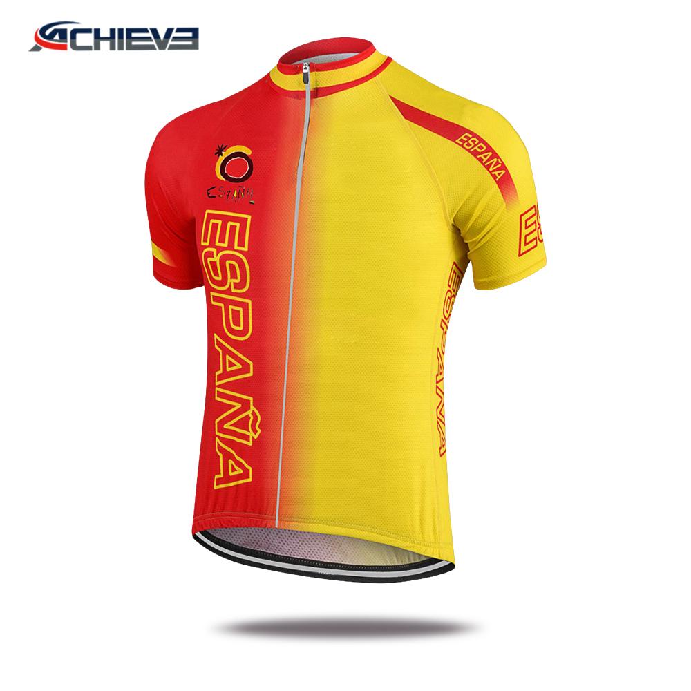 Custom sublimation cycling apparel womens 100% Polyester Lycra Fabric  cycling jerseys 379301b24