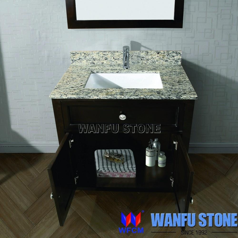 Hot Sale Bathroom Cabinet With White Granite Vanity Top